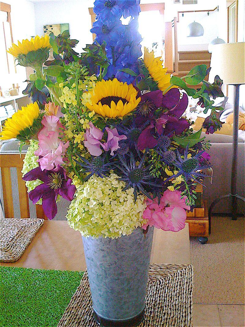 Bouquet, delphinium