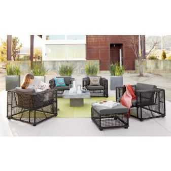 Plant Talk Fresh New Outdoor Furniture And Pots From CB Are Cool - Cb2 outdoor coffee table