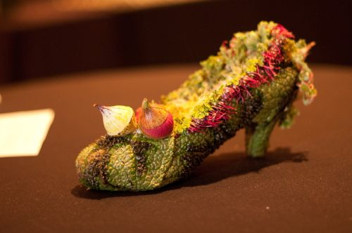 Botanical-shoe-with-eucalyptus-Françoise-Weeks