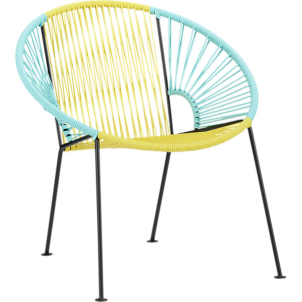 Ixtapa-yellow-mint-lounge-chair