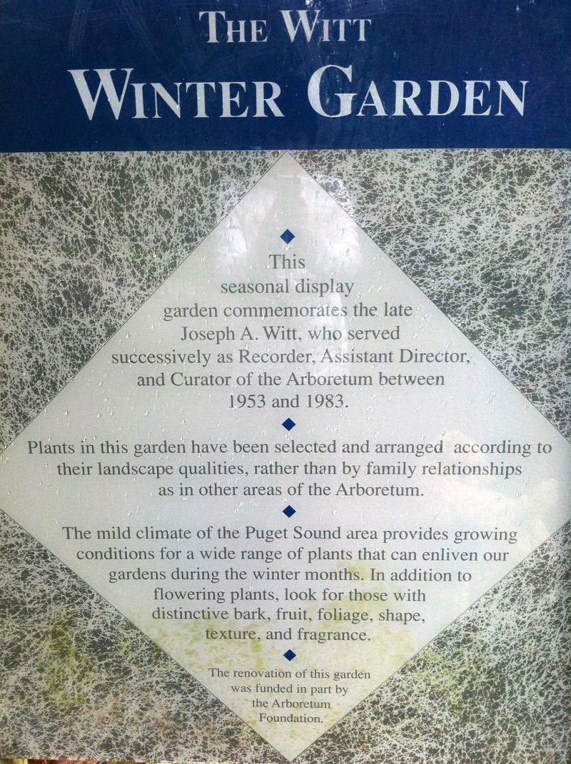 Sign winter garden